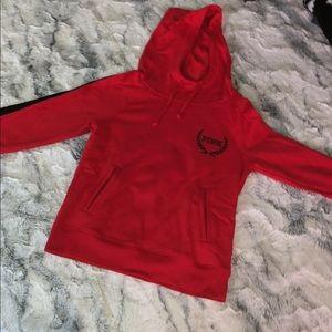 Bright red VS pink hoodie !